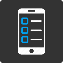 application, cellphone, check, form, mark, mobile test, phone icon