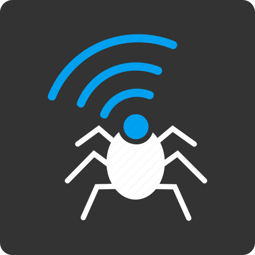 insect, network, radio bug, security, signal, spy, virus icon