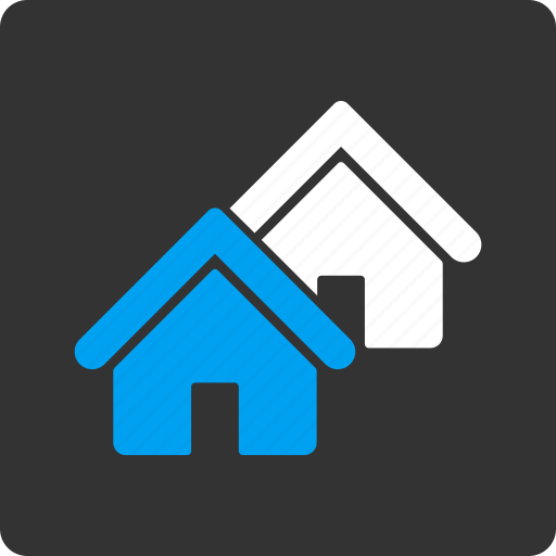 company, houses, property, real estate, realty, town, village icon