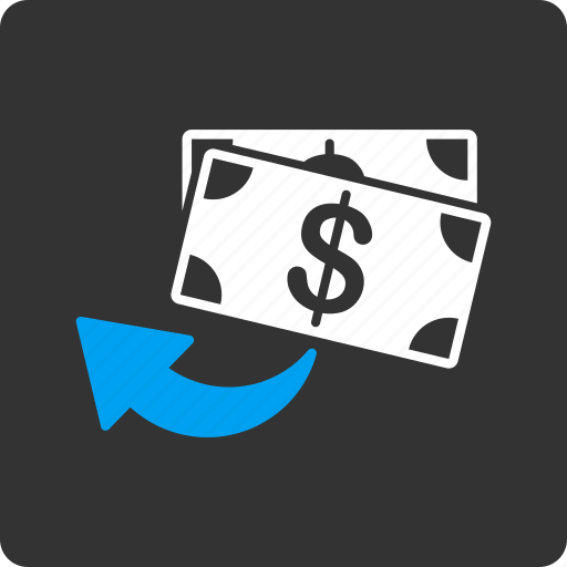 Cashback, restore, money, back, undo, chargeback, payment icon