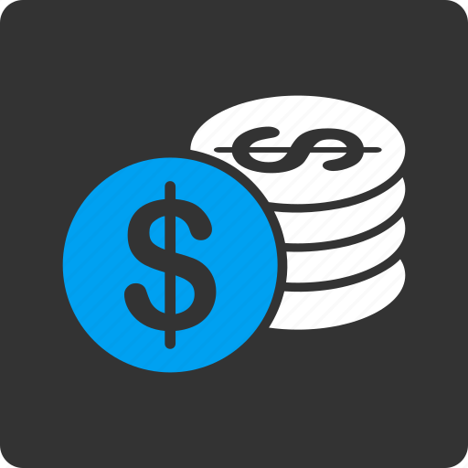 bank, cash, currency, dollar coins, finance, money, payment icon