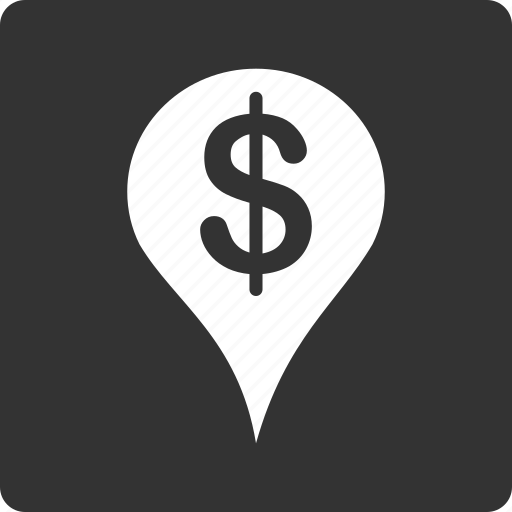 bank, location, map marker, navigation, pin, placement, pointer icon