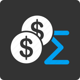 cash, coins, currency, finance, money, sales, summary icon