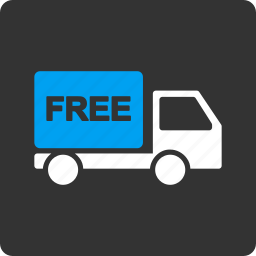 car, free delivery, service, transport, transportation, truck, vehicle icon
