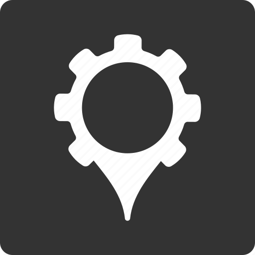 configuration, gear, gps settings, location, navigation, preferences, tools icon