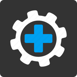 gear, medical, medicine, options, preferences, settings, tools icon