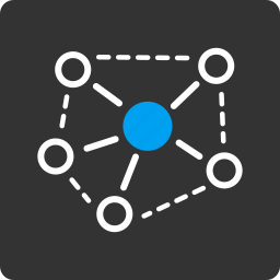 connect, internet, links, molecule, network, structure, system icon