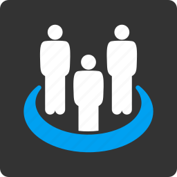 community, customers, people, social group, social media, staff, users icon