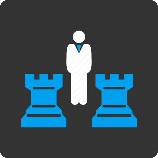 business, chess, game, leader, management, play, strategy icon
