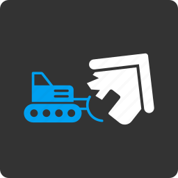 break, breakages, bulldozer, demolition, destroy, destruction, remove icon