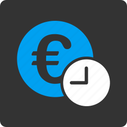 credit, currency, euro, financial, loan, regular payment, time icon