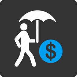 business, finance, financial, insurance, money, protection, umbrella icon