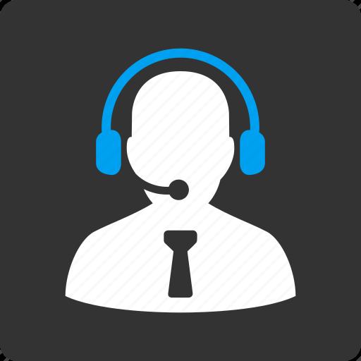 Operator, reception, headset, support, service, office, secretary icon