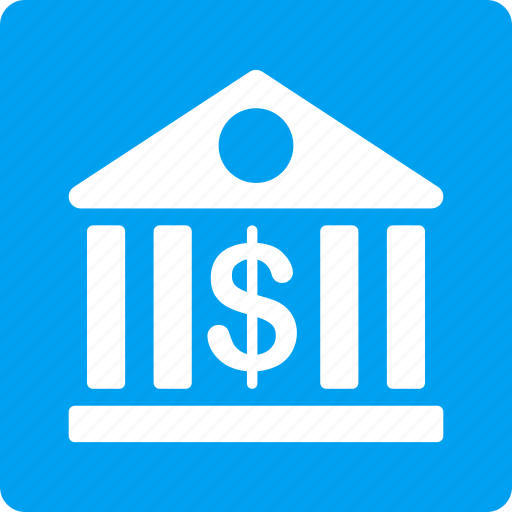 bank building, cash, dollar, finance, financial center, money, payment icon