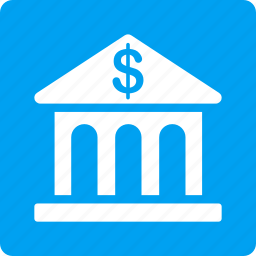 bank building, banking, business center, financial company, library, museum, office icon