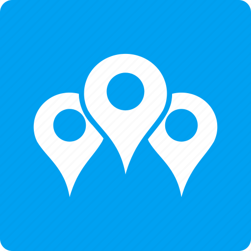 locations, map markers, navigation, pin, point, pointer, position icon