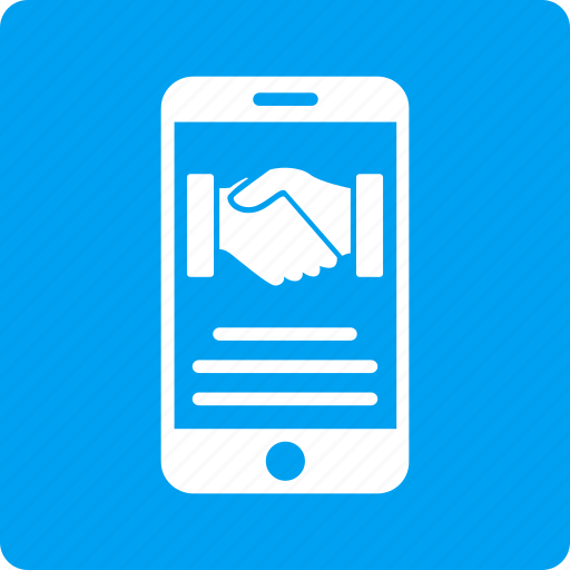 business, cellphone, contract, handshake, mobile agreement, partnership, phone icon