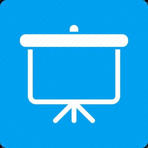 board, plan, powerpoint, presentation, project, projector, screen icon