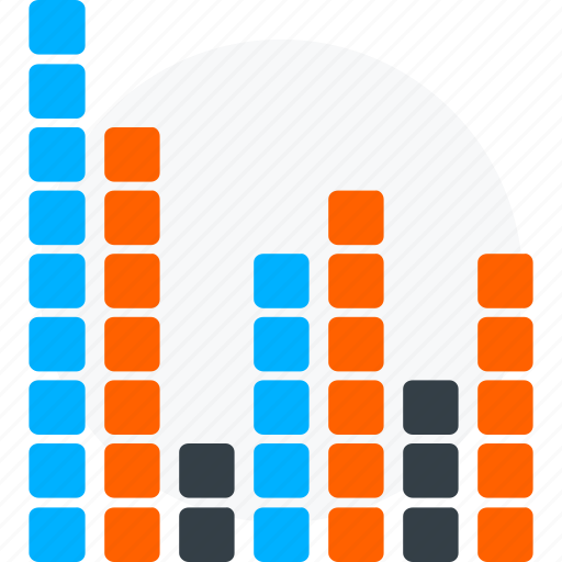 audio, chart, melody, music, song, sound icon icon
