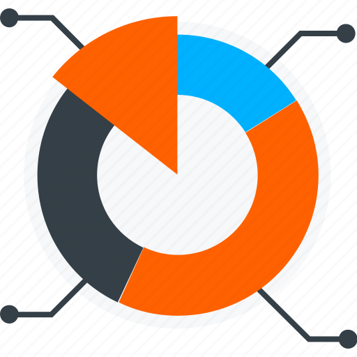 analytics, circle, graph, pie chart, statistics icon icon