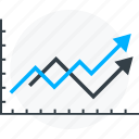 analysis, chart, graph, infographic, report, statistic, success icon icon
