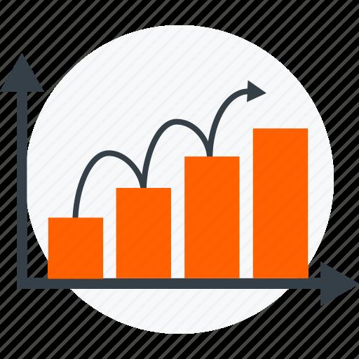 analytics, graph, sales growth, statistics icon icon