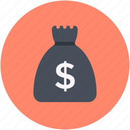 cash, cash bag, dollar sack, money sack, sack of money icon