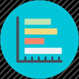 analytics, business chart, data evaluation, horizontal chart, statistics icon