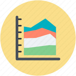 bubble chart, diagram, scatter chart, scatter graph, scatter plot icon