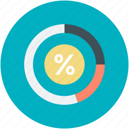 business chart, business presentation, donut pie chart, pie chart, statistic icon
