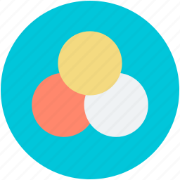 circle infographic, overlapping circles, presentation of chart, template for diagram, three rings icon