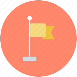 banner, flag, fluttering flag, location flag, waving flag icon