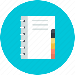 documents, jotter, jotter pad, notebook, paper pad icon