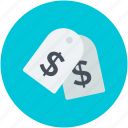 commercial tag, dollar sign, dollar tag, label, price tag icon
