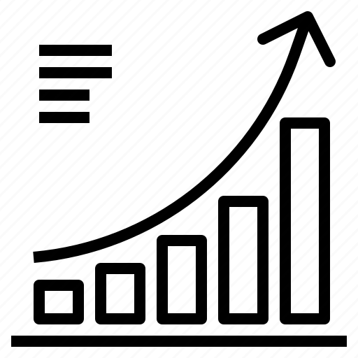business, chart, forecasting, graph, graphic, growth icon