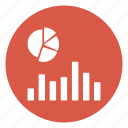 chart, graph, growth, pie, statistics icon