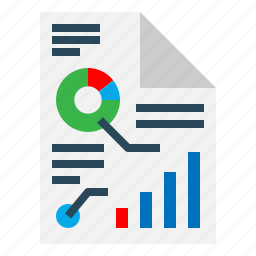 analysis, bar, chart, document, graph, report icon