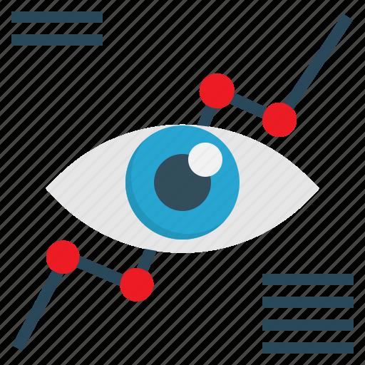 analysis, eye, graph, marketing, vision icon
