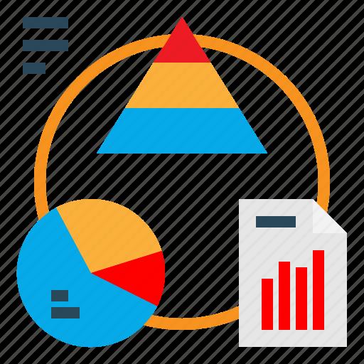 Diagram, donut, circle, graphic, chart icon