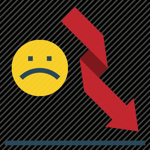 Down, loss, chart icon