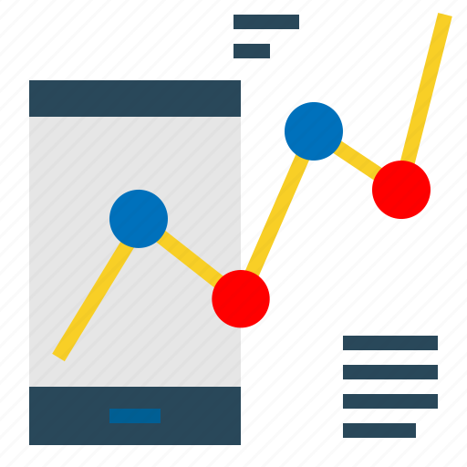 dashboard, graph, infographic, mobile, statistics icon