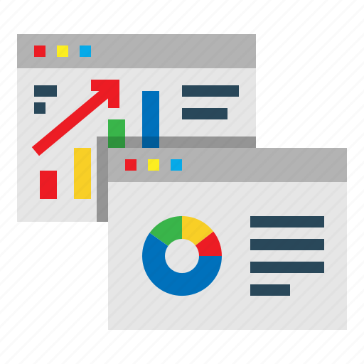 analytics, diagram, graph, infographic, screen, web icon