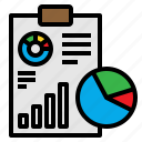 analysis, analytics, chart, clipboard, graph icon