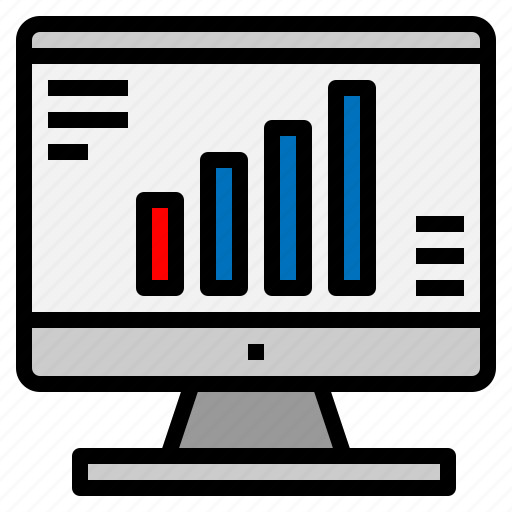 Bar, chart, graph, monitor, screen, statistics icon - Download on Iconfinder