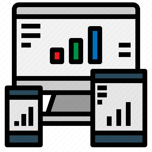 bar, chart, graph, monitor, screen, statistics icon