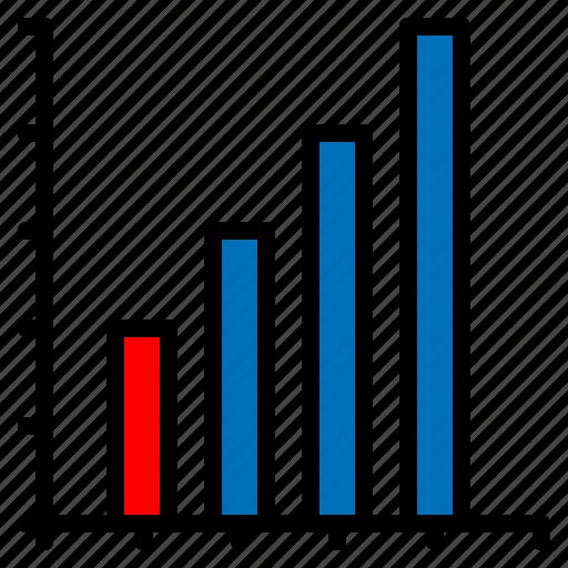 bar, chart, diagram, graph, line icon
