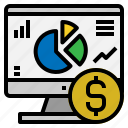investment, return, seo icon