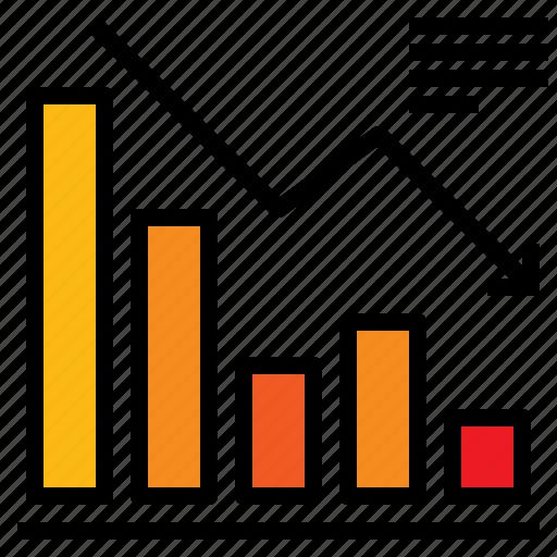 chart, decrease, graph icon