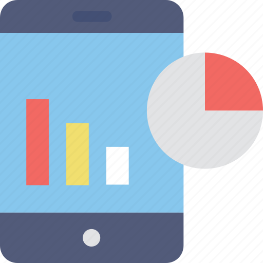 dashboard, graph, infographic, mobile graphs, statistics icon