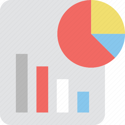 bar chart, graph report, pie chart, report, statistics icon